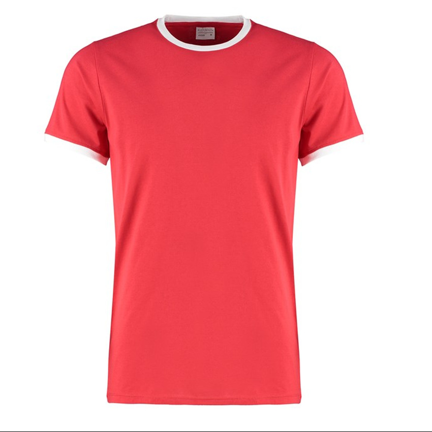 Multicolor t-shirt rood-wit